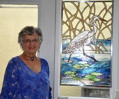 Donna Martin Creative glass art. The Hub On Canal.