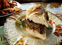 The Gainsbourger, beef-and-lamb patty on toasted baguette. Seattle