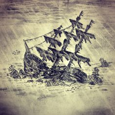 I want this as a part of a sleeve. I love nautical sketches and tattoos. Especially shipwrecks.