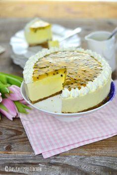 Sommer auf dem Kuchenteller: Maracuja-Buttermilch-Cheesecake | Das Knusperstübchen