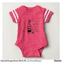 Umsted Design Pirate Fill In The Blank Baby Bodysuit
