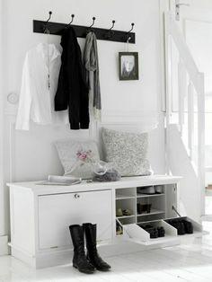 console bois, meuble bois, meuble d'entree en bois noir