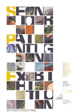 UMD Senior Painting Exhibition Poster on Behance