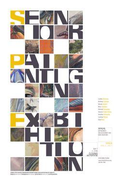 UMD Senior Painting Exhibition Poster on Behance