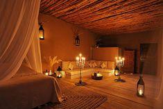 La Pause - A Riad in Marrakech, Morocco La Pause Marrakech, Romantic Hotel Rooms, Romantic Bedrooms, Spa Privatif, Mud Hut, Luxury Interior, Interior Design, Moroccan Bedroom, Moroccan Furniture