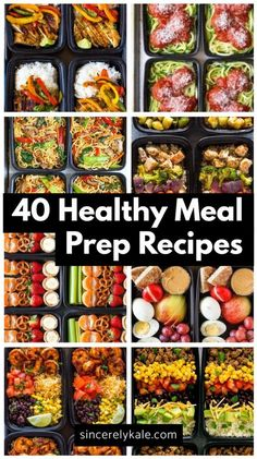 Healthy Recipes 40 Healthy Meal Prep Recipes to Make For The Week - Sincerely Kale - Save money and eat well with meal preps! Check out these 40 healthy meal prep recipes your tastebuds will love and your body will thank you for! Clean Recipes, Easy Healthy Recipes, Healthy Drinks, Easy Meals, Cooking Recipes, Diet Recipes, Week Meal Prep Recipes, Advocare Lunch Recipes, Easy Salads
