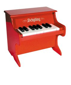 Take a look at this Red Mini Piano on zulily today!