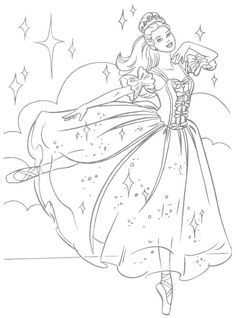 barbie coloring page - Barbie Pictures To Print And Colour