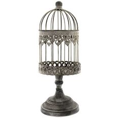 Get Antique Beige Small Iron Bird Cage on Stand online or find other Accent Pieces products from HobbyLobby.com