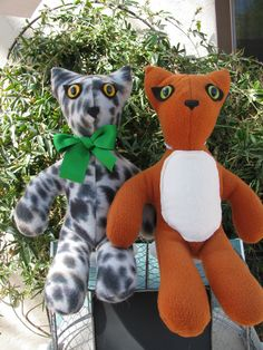 Plush kitty toy by CATsThisAndThat on Etsy