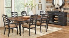 Eric Church Highway To Home Arrow Ridge Ebony 5 Pc Rectangle Dining Room from  Furniture