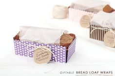 Bread Loaf Wraps {free printable template}