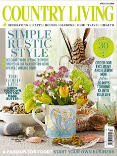 Country Living magazine April 2015 cover countryliving.co.uk