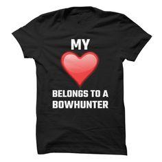 (Tshirt Design) My Heart Belongs To A Bowhunter at Tshirt Family Hoodies, Tee Shirts