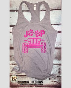 Womans jeep racerback tank top | jeep and dog paw tank top | fitness tank top | jeep tank top | gym tank top by niklindesigns1225 on Etsy https://www.etsy.com/listing/607101034/womans-jeep-racerback-tank-top-jeep-and