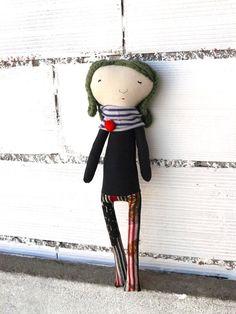 Muñeca Lulú de algodón / 48 cm / OOAK por AntonAntonThings en Etsy