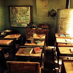 Old school room photo I took in a small town