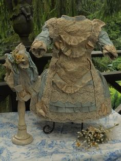 $620.00~SOLD~~~ Amazing French Couture Bebe Costume with Bonnet ~~~