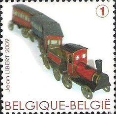belgian stamps Trains in miniature. 'Toy Loco - Jouet de Paris , Montreuil, France 1910'