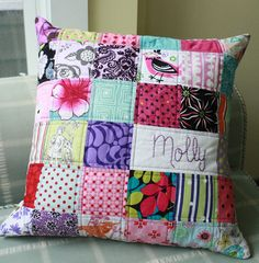 I like the personalization. Quick project, for when I have less time and ambition to do a whole quilt!