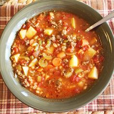 New #ontheblog this morning,  HEARTY SAUSAGE AND BARLEY SOUP, perfect for a cold snowy day. ❄❄❄❄❄❄#linkinprofile #whatsfordinner #soup