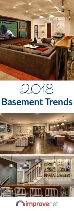 If you're looking to create more livable space in your home this year, the answer might be right below your feet. A finished basement is a great way to add more livable are to your home without the need for an addition.  Here are the hot basement trends you'll be seeing in 2018.