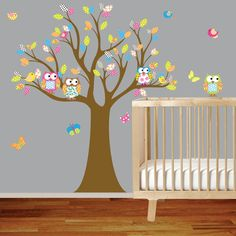 Wall Decals Nursery - Nursery Wall Decal - Tree Decal - Children Wall Decal…