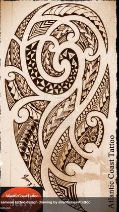 polynesian maori samoan tattoo design drawing by atlanticcoasttattoo - Letter Tattoos Maori Tattoos, Ta Moko Tattoo, Hawaiianisches Tattoo, Bild Tattoos, Marquesan Tattoos, Samoan Tattoo, Forearm Tattoos, Sleeve Tattoos, Buddha Tattoos