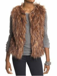 4b45f4195a57c5 simply FABulous  DIY Faux Fur Vest instructions