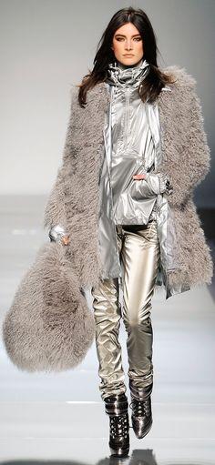 Fur & Metallic Street wear - Blumarine - Fall RTW 2012 ~ http://VIPsAccess.com/luxury-hotels-caribbean.html