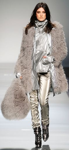 Fur & Metallic Street wear - Blumarine - Fall RTW 2012 ~ http://VIPsAccess.com/luxury-hotels-caribbean.html