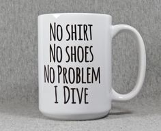 diving mug diver mug funny diver gift dive team by QuipsAndGrins