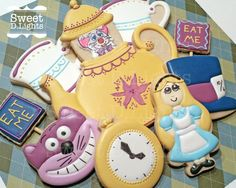 Cookies for an Alice in ONEderland themed first birthday!