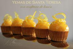 Yemas de Santa Teresa con confitura de limón