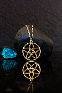 Silver pentacle necklace pentacle pendant silver pentagram 14k gold celtic pentagram necklace pentagram flower necklace pentagram pendant pentacle pendant aloadofball Choice Image