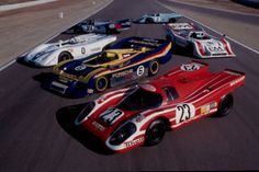 Porsche 917s on display at Monterey.