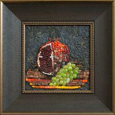 Mosaic.Гранат и виноград