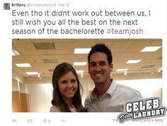 The Bachelorette 2014: Winner Josh Murray is chatting on SnapChat more w/x, Brittany McCord, than he is w/Andi Dorfman.  And Andi is reportedly communicating with Nick Viall behind Josh's back.   (07.29.14)