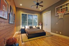 Hoop dream - my son would love this!! he has already tried to design a room like this