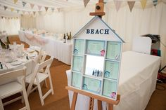 Table plan for a Bournemouth Beach Hut Wedding | Photography by http://www.mia-photography.com/