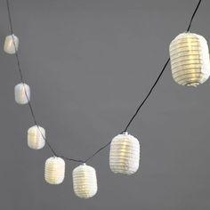 Guirlande Lumineuse Solaire, 10 Lampions Elliptiques à LED Blanches Chaudes, 4,5m: Amazon.fr: Jardin