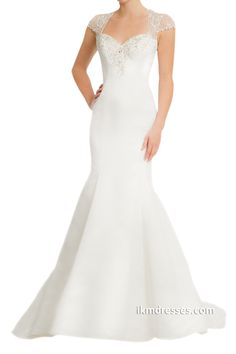 Women´s Mermaid Beaded Wedding Dress Gown http://www.ikmdresses.com/Womens-Mermaid-Beaded-Wedding-Dress-Gown-p89107