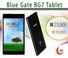 #BlueGateBG7Tablet 1.3GHz 1GB Ram 8GB Rom. Buy this #AndroidTablet Online in #Nigeria from http://www.blessingcomputers.com/products/CBDZHZUM82-Blue-Gate-BG7-Tablet.html