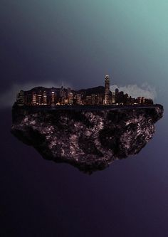 Floating Island Hong Kong - Photo Manipulations by Reinhard Krug