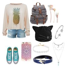 """""""Pineapple Cuteness"""" by pandatrix on Polyvore featuring Frame Denim, Wildfox, Aéropostale, Karl Lagerfeld, Bling Jewelry and McQ by Alexander McQueen"""