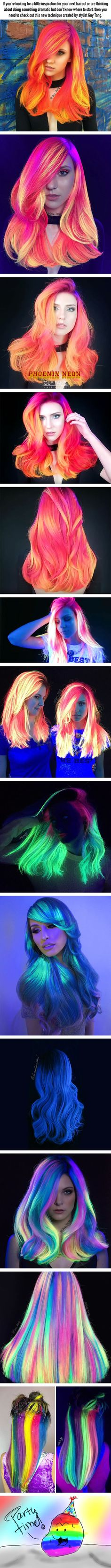 People are crazy about this glow-in-the-dark hair trend - 9GAG
