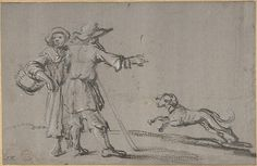 Anonymous, Dutch, 17th century (?). Two Figures and a Dog, 17th century (?). The Metropolitan Museum of Art, New York.