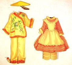 "Paper Dolls ""Shirley Temple"" 2 Double Sided Dolls Saalfield 1715 1935 Loose | eBay"