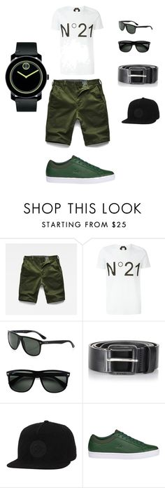 """""""Bez naslova #27"""" by belmin-durakovic ❤ liked on Polyvore featuring G-Star Raw, N°21, Ray-Ban, Diesel, Converse, Lacoste, Movado, men's fashion and menswear"""