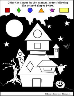 * Halloween worksheet about shapes